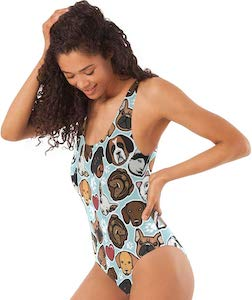 Women's Dog Faces Swimsuit