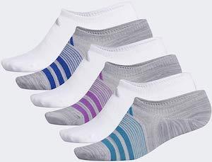 6 Pairs of Adidas No Show Socks
