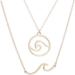 Double Waves Necklace Set