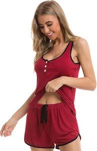 Cute Cami Top And Shorts Pajama Set