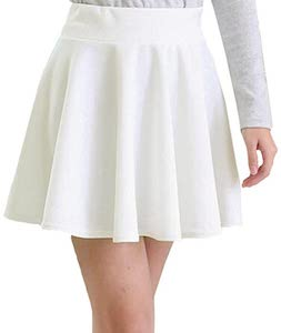 Stretchy White Skater Skirt