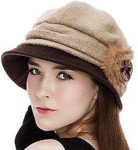 1920 Style Cloche Hat with Side Flower