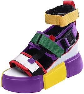 Women's Color Block Platform Sandals